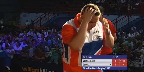 Adrian Lewis przegrywający awans do finału.