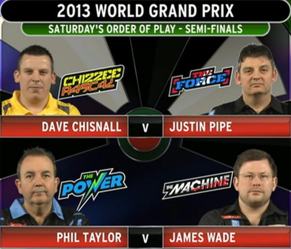 Dart World Grand Prix 2013- dzień 5, półfinały